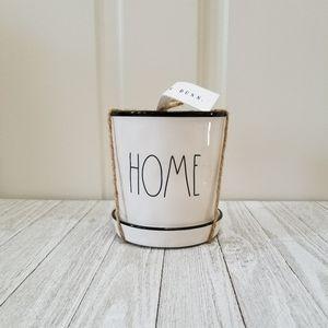 Rae Dunn HOME Mini Planter Black Rim